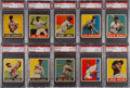 Baseball Cards:Singles (1940-1949), 1948 Leaf Baseball PSA NM-MT 8 Collection (10). ...