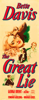"""The Great Lie (Warner Brothers, 1941). Insert (14"""" X 36"""")"""