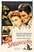 """Movie Posters:Hitchcock, Spellbound (Selznick, R-1948). One Sheet (27"""" X 41"""").. ..."""