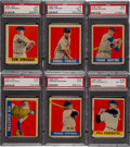 Baseball Cards:Singles (1940-1949), 1948 Leaf Baseball PSA-Graded Short Print Collection (6). ...