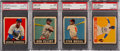 Baseball Cards:Lots, 1948 Leaf Baseball PSA-Graded Collection (13) With Musial....