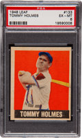 Baseball Cards:Singles (1940-1949), 1948 Leaf Tommy Holmes SP #133 PSA EX-MT 6....