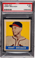 Baseball Cards:Singles (1940-1949), 1948 Leaf Harry Brecheen SP #158 PSA NM 7 - Highest GradeAvailable....