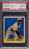 Baseball Cards:Singles (1940-1949), 1948 Leaf Clifford Fannin SP #123 PSA EX-MT 6....