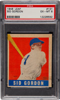 Baseball Cards:Singles (1940-1949), 1948 Leaf Sid Gordon SP #131 PSA EX-MT 6....
