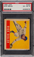 Baseball Cards:Singles (1940-1949), 1948 Leaf Dick Sisler SP #143 PSA EX-MT 6....