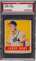 Baseball Cards:Singles (1940-1949), 1948 Leaf Larry Doby SP #138 PSA EX 5....