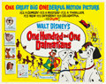 "Movie Posters:Animated, 101 Dalmatians (Buena Vista, 1961). Half Sheet (22"" X 28"").. ..."