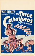 "Movie Posters:Animated, The Three Caballeros (RKO, 1945). Window Card (14"" X 22"").. ..."