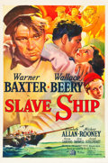 "Movie Posters:Adventure, Slave Ship (20th Century Fox, 1937). One Sheet (27"" X 41"") StyleA.. ..."