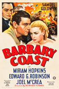 "Movie Posters:Western, Barbary Coast (United Artists, 1935). One Sheet (27"" X 41"").. ..."