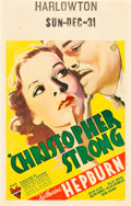 "Movie Posters:Drama, Christopher Strong (RKO, 1933). Window Card (14"" X 22"").. ..."