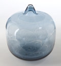 Art Glass:Other , INGEBORG LUNDIN FOR ORREFORS GLASS VASE . Clear blue apple vase with stylized floral pattern, circa 1965. Engraved: Orrefo...