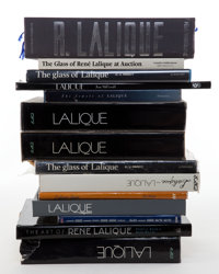 LALIQUE REFERENCE LIBRARY COMPRISING FOURTEEN BOOKS 20th century