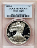 Modern Bullion Coins: , 1989-S $1 Silver Eagle PR70 Deep Cameo PCGS. PCGS Population (313).NGC Census: (868). Mintage: 617,694. Numismedia Wsl. Pr...