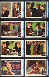 """Lady in the Lake (MGM, 1947). CGC Graded Lobby Card Set of 8 (11"""" X 14""""). ... (Total: 8 Items)"""