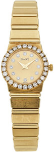 Estate Jewelry:Watches, Piaget Lady's Diamond, Gold Polo Wristwatch, modern. ...