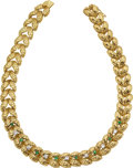 Estate Jewelry:Necklaces, Diamond, Emerald, Gold Necklace, St. Geo. ...