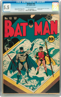 Batman #10 (DC, 1942) CGC FN- 5.5 Off-white to white pages