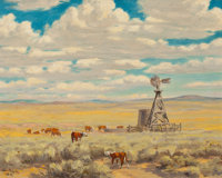GEORGE PHIPPEN (American, 1915-1966) Prairie Skies, 1948 Oil on canvas 16 x 20 inches (40.6 x 50
