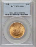 Indian Eagles, 1910 $10 MS64+ PCGS. CAC....