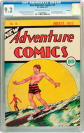 Golden Age (1938-1955):Adventure, New Adventure Comics #18 Rockford pedigree (DC, 1937) CGC NM- 9.2Cream to off-white pages....