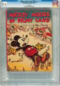 Platinum Age (1897-1937):Miscellaneous, Mickey Mouse In Pigmy Land #1 (Walt Disney Publications, 1936) CGC NM 9.4 Off-white pages....