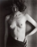 Photographs:20th Century, EDWARD HENRY WESTON (American, 1886-1958). Nude, 1918.Gelatin silver, printed later by Cole Weston. 9-1/2 x 7-1/2inche...