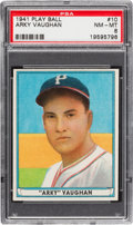 Baseball Cards:Singles (1940-1949), 1941 Play Ball Arky Vaughan #10 PSA NM-MT 8....