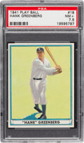 Baseball Cards:Singles (1940-1949), 1941 Play Ball Hank Greenberg #18 PSA NM+ 7.5....