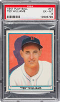 Baseball Cards:Singles (1940-1949), 1941 Play Ball Ted Williams #14 PSA EX-MT 6....
