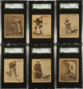 "Hockey Cards:Lots, 1933 WWG ""Ice Kings"" Partial Set (18) With Clancy and Morenz...."