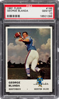 Football Cards:Singles (1960-1969), 1961 Fleer George Blanda #166 PSA Gem Mint 10....