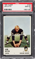 Football Cards:Singles (1960-1969), 1961 Fleer Jim Otto #197 PSA Gem Mint 10....
