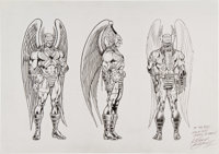 Kerry Gammill Hawkman Character Design Illustration Original Art (undated)