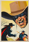 Original Comic Art:Covers, Zorro Painted Cover Illustration Original Art (undated)....