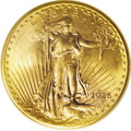 Saint-Gaudens Double Eagles: , 1926-D $20 MS65 PCGS. The Denver Mint struck 481,000 double eaglesin 1926. Most of these were apparently retained in the U...