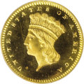 Proof Gold Dollars: , 1856 G$1 Slanted 5 PR65 PCGS. The year 1856 was in many ways a transitional year at the nation's mints. Preparations were u...