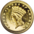 Proof Gold Dollars: , 1881 G$1 PR66 Ultra Cameo NGC. A mere 87 proofs were produced this year from an enticingly low total mintage of 7,707 piece...