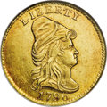 1796 $2 1/2 No Stars MS63 NGC. Breen-1, Breen-6113, Bass-3002, BD-2, High R.4. Among the early quarter eagles produced f...
