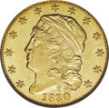 Early Quarter Eagles: , 1830 $2 1/2 MS61 PCGS. Breen-6133, Type of Bass-3027, R.4. As withall dates in the reduced size Capped Head Left series, o...