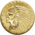 Indian Quarter Eagles: , 1911-D $2 1/2 MS62 NGC. The 1911-D is the key to the Indian Head quarter eagle series in all grades. Its 55,680-piece minta...