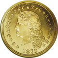 1879 $4 Flowing Hair, Judd-1635, Pollock-1833, R.3, PR66 Cameo NGC. The successful introduction of a more unlikely coin...