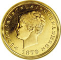 Proof Four Dollar Gold Pieces: , 1879 $4 Coiled Hair, Judd-1638, Pollock-1838, R.6, PR63 NGC. Of allthe many numismatic delicacies created inside (and occa...