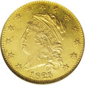 1825/1 $5 MS61 NGC. Ex: Reed. Breen-6483, BD-1, High R.5. David Akers, in his United States Gold Coins: An Analysis of A...