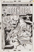 Original Comic Art:Covers, Sal Buscema and Frank Bolle The Defenders #11 Cover OriginalArt (Marvel, 1973)....