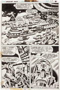 Original Comic Art:Panel Pages, Jack Kirby and Mike Royer Machine Man #5 page 28 OriginalArt (Marvel, 1978)....