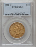 Liberty Eagles, 1882-O $10 XF45 PCGS. Variety 1....