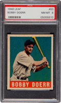 Baseball Cards:Singles (1940-1949), 1948 Leaf Bobby Doerr #83 PSA NM-MT 8 - Highest Grade Available!...