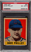 Baseball Cards:Singles (1940-1949), 1948 Leaf Dave Philley SP #85 PSA EX-MT 6....